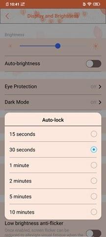 Hướng dẫn cách cài đặt hiển thị và khóa tự động 3