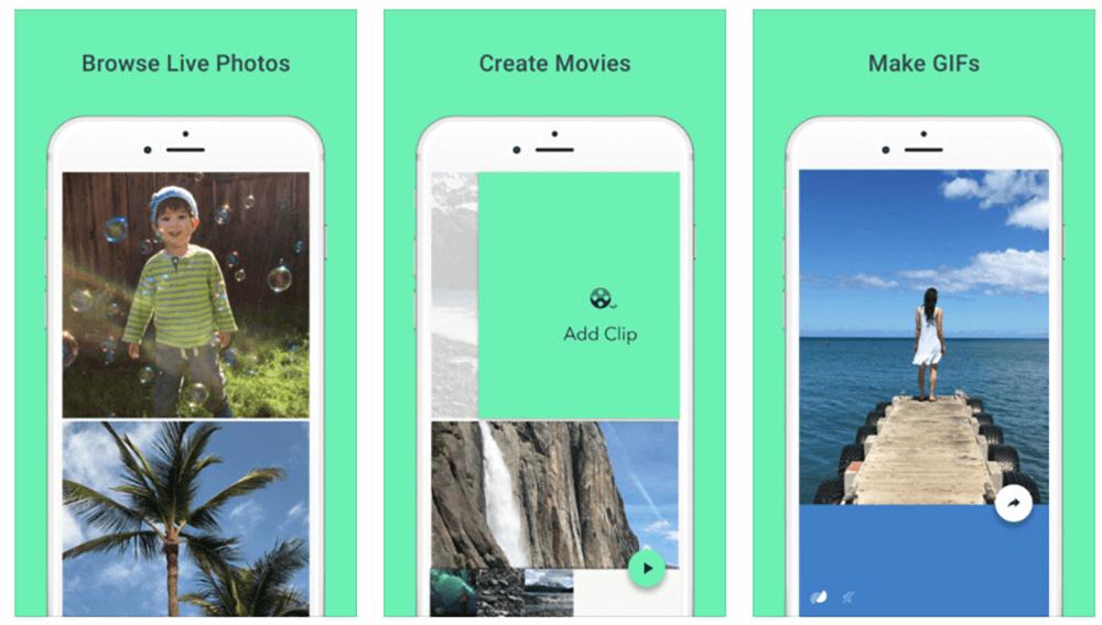 Ngoài tạo live photo thì Motion Stills còn giúp bạn làm gif và tạo phim