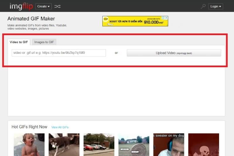 Giao diện trang web ImgFlip.com