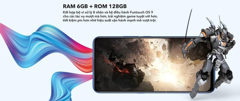 vivo V15 sở hữu RAM 6GB, ROM 128GB