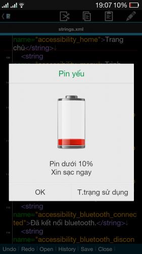 Điện thoại bị chậm khi còn ít pin