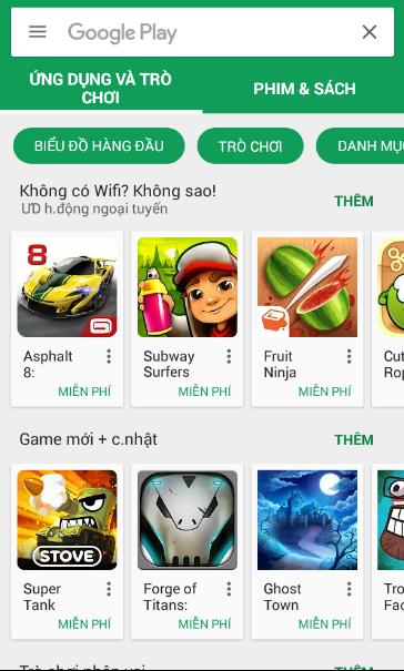 Tải game từ nguồn đáng tin cậy như CH Play hoặc V-Appstore