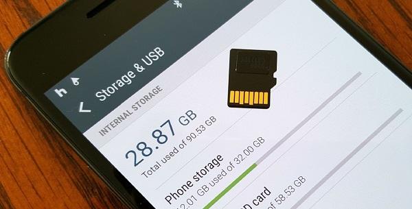 thẻ SD và điện thoại không tương thích dễ khiến điện thoại bị chậm