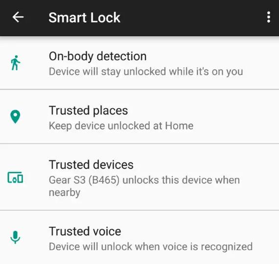 Mở khóa bằng Smart Lock
