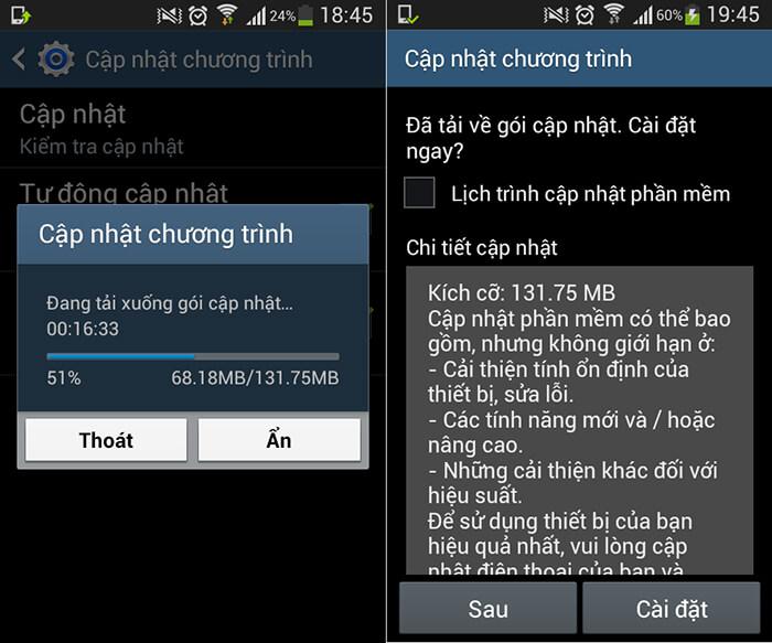 Biện pháp xử lý khi điện thoại Android không cập nhật được phần mềm