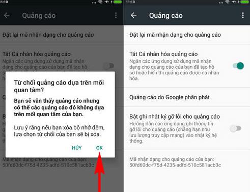 Giải pháp cho điện thoại Android khi bị quảng cáo