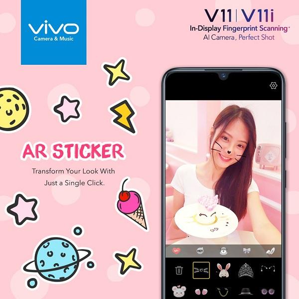 tính năng ar sticker trên v11i