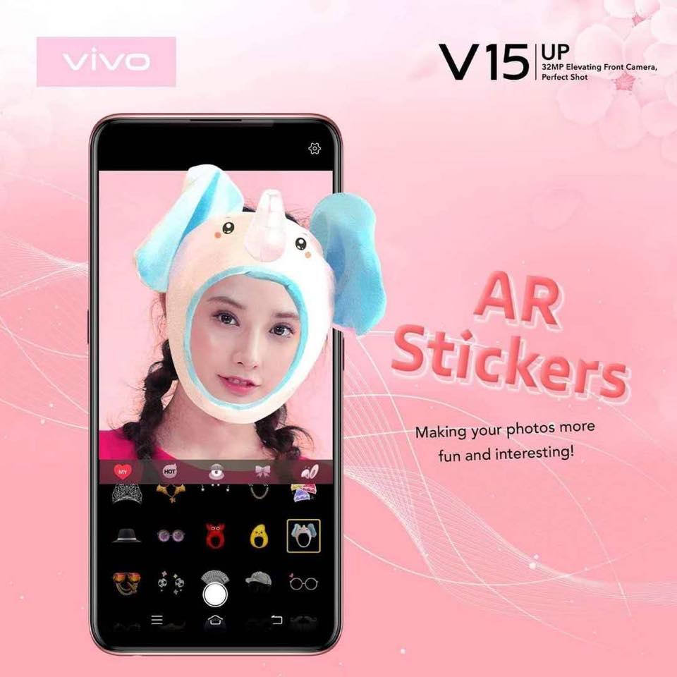 công nghệ ar sticker trên điện thoại vivo v15