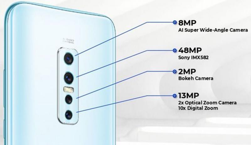Vivo V17 pro có tính năng quay video time-laspe, có độ phân giải cao nhất lên tới 48MP