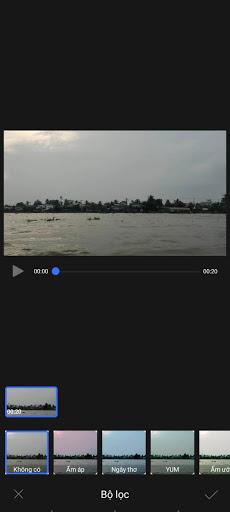 Bộ lọc trên video vivo V17 pro