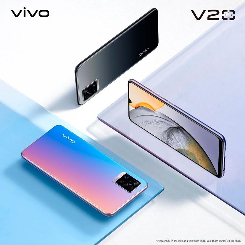 vivo V20 ra mắt với 2 phiên bản màu sắc sang trọng và thu hút mọi ánh nhìn