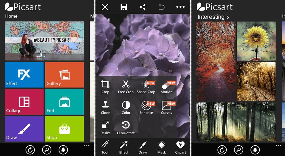 app chỉnh hình đẹp PicArt