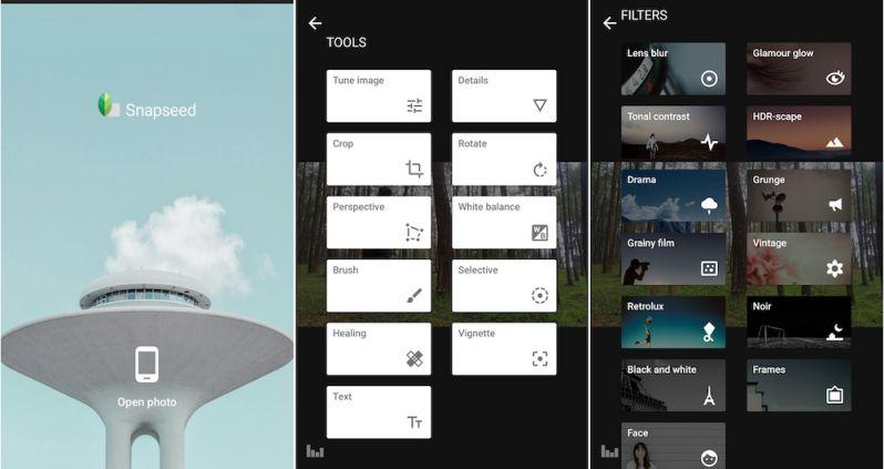 App chỉnh hình đẹp Snapseed