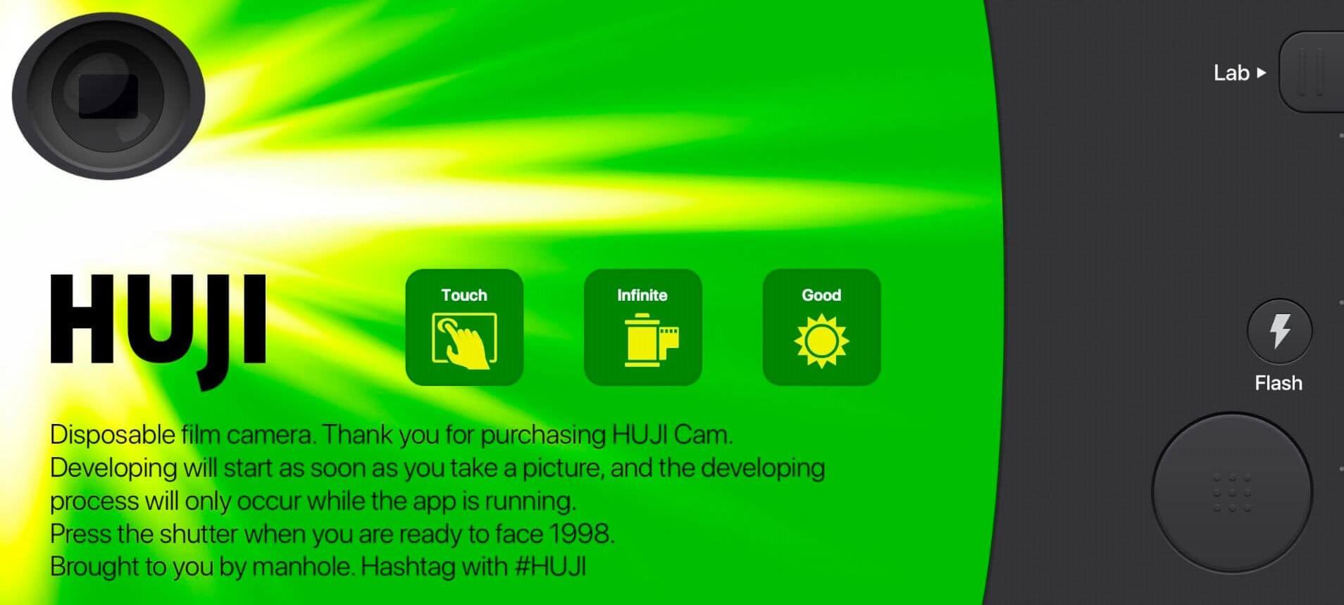 App chỉnh màu đẹp: Huji Cam