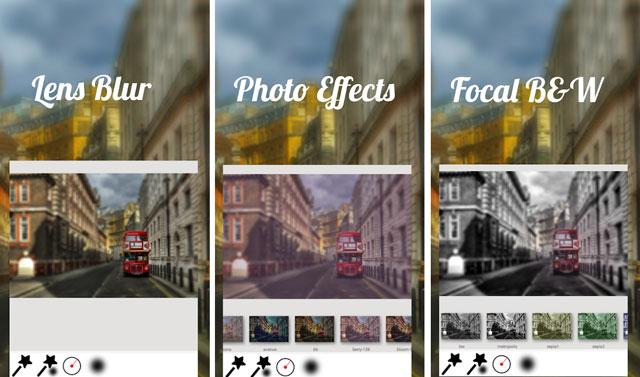 xóa phông bằng app Lens Blur
