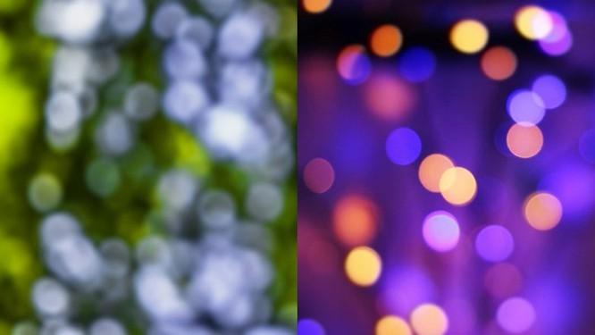 Nền có ánh sáng lung linh hơn nền đơn sắc