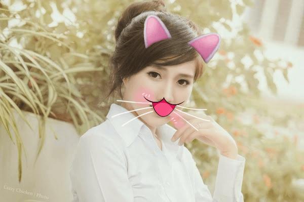 Hóa thân thành bé mèo dễ thương
