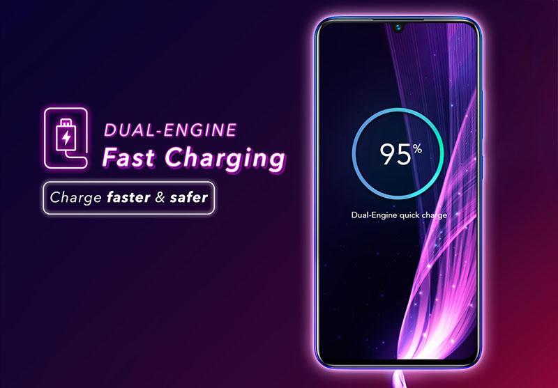 Công nghệ sạc nhanh Dual-Engine vivo V15