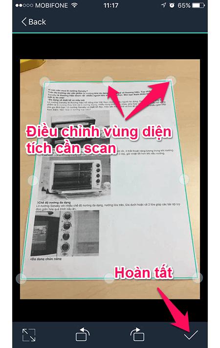 Ứng dụng tự động canh chỉnh 4 góc của tài liệu ngay sau khi chụp