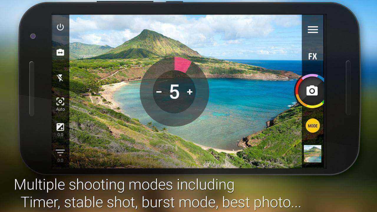 Điều chỉnh bằng tay đa dạng nhờ có camera Zoom FX
