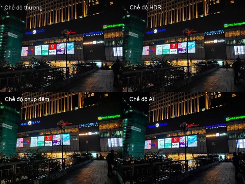 so sánh các chế độ chụp ảnh của camera vivo V17 Pro