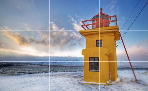 Chụp ảnh theo nguyên tắc một phần ba là một trong những kỹ năng chụp ảnh bằng điện thoại mà không phải ai cũng biết