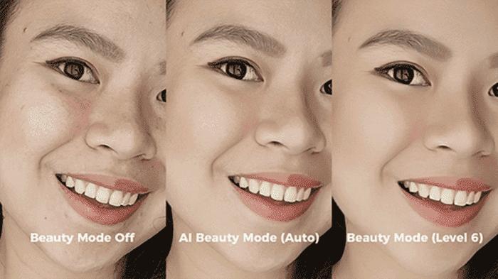 Công nghệ AI Beauty có thể tự động chỉnh sửa một cách linh hoạt và nhanh chóng những khuyết điểm trên gương mặt
