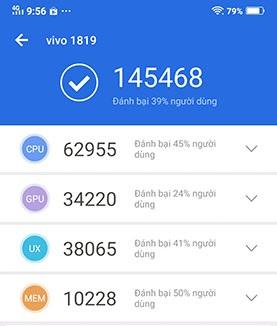 hiệu năng của điện thoại vivo v15