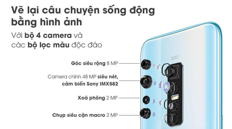 Bộ bốn camera sau vivo V17 Pro cho khả năng chụp ảnh đa dạng