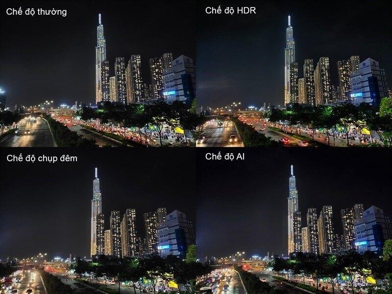 Chụp đêm với nhiều chế độ khác nhau