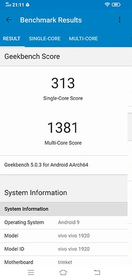 Đo hiệu năng bộ xử lý của điện thoại vivo S1 Pro