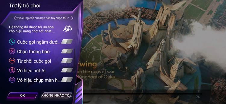 Chế độ chơi game trên vivo S1