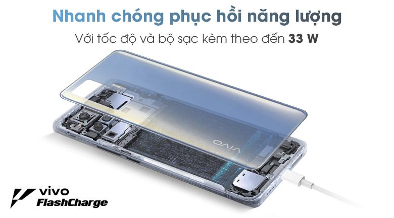 vivo X50 Pro hỗ trợ Sạc Siêu Tốc FlashCharge 33W